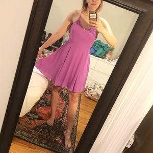 Express Hot Pink Spaghetti Strap Mini Dress